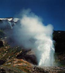 Kamchatka geysers and hot springs